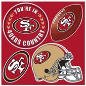 NFL San Francisco 49er's 4 Piece Magnet Set