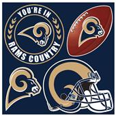 NFL Los Angeles Rams 4 Piece Magnet Set