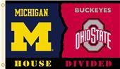 Collegiate Michigan/Ohio St Rivalry House Flag