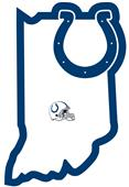 NFL Indianapolis Colts Home State Decal
