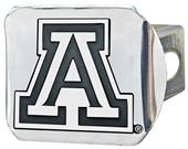 Fan Mats NCAA Arizona Chrome Hitch Cover