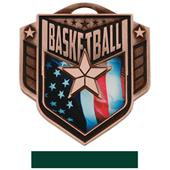 """Hasty Awards 2.25"""" Liberty Basketball Medals M-742"""