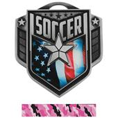 """Hasty Awards 2.25"""" Liberty Soccer Medals M-742"""