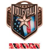 "Hasty Awards 2.25"" Liberty Volleyball Medals M-742"