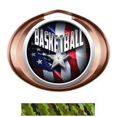 Hasty Award Halo Basketball Liberty Insert Medal