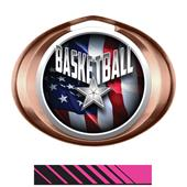 Hasty Award Halo Basketball Liberty Insert Medal