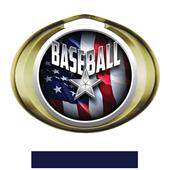 Hasty Award Halo Baseball Liberty Insert Medal