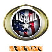 Hasty Award Halo Baseball Liberty Insert Medal