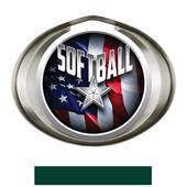 Hasty Award Halo Softball Liberty Insert Medal