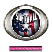 Hasty Award Halo Softball Liberty Insert Medal
