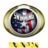 Hasty Award Halo Swimming Liberty Insert Medal