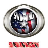 Hasty Award Halo Swimming Liberty Insert Medal
