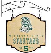 Winning Streak NCAA Spartans Vintage Tavern Sign