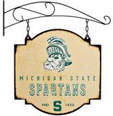 Winning Streak NCAA Spartans Vintage Tavern Sign