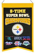 Winning Streak NFL Steelers 6x Super Bowl Banner