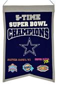 Winning Streak NFL Cowboys Super Bowl Champ Banner