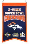 Winning Streak NFL Broncos Super Bowl Champ Banner