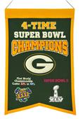 Winning Streak NFL Packers Super Bowl Champ Banner