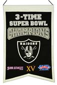 Winning Streak NFL Raiders 3x Super Bowl Banner