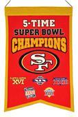 Winning Streak NFL 49ers 5x Super Bowl Banner