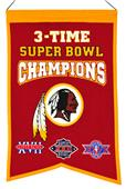 Winning Streak NFL Redskins 3x Super Bowl Banner