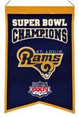 Winning Streak NFL Rams Super Bowl Champs Banner