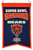 Winning Streak NFL Bears Super Bowl Champs Banner
