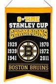 Winning Streak NHL Bruins 6x Champions Banner