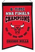 Winning Streak NBA Bulls 6x Champs Banner