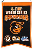 Winning Streak MLB Orioles 3x Champs Banner
