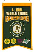 Winning Streak MLB  Athletics 4x Champs Banner