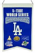 Winning Streak MLB Dodgers 5x Champs Banner