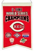 Winning Streak MLB Reds 5x Champs Banner