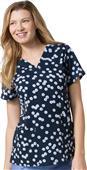 Maevn Prints Women's V-Neck Short Sleeve Tops