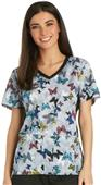 Cherokee Women's V-Neck Knit Panel Scrub Top