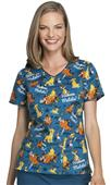 Cherokee Disney Women's V-Neck Scrub Top