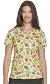 Cherokee Disney Women's Dr. Seuss V-Neck Scrub Top