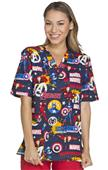 Cherokee Disney Unisex V-Neck Tunic Scrub Top