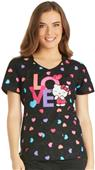 Cherokee Hello Kitty Women's V-Neck Scrub Top
