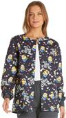 Cherokee Disney Women's Snap Front Warm-Up Jacket