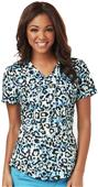 Careisma Women's Mock Wrap Scrub Top