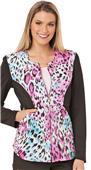Careisma Women's Zip Front Contrast Sleeves Jacket