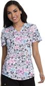 Careisma Women's Contemporary Mock Wrap Scrub Top