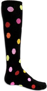 BLACK SOCK MULTI-COLOR DOTS