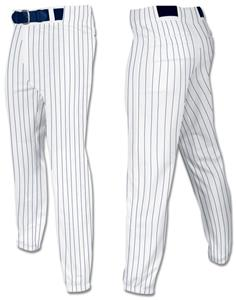 WHITE W/NAVY PINSTRIPES