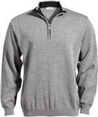 Edwards Mens Quarter-Zip Acrylic Sweater