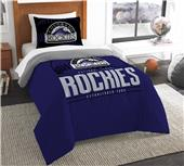Northwest MLB Rockies Twin Comforter & Sham