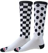 Red Lion Check Dots Over-The-Calf Socks