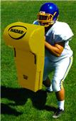 Hadar Football Contoured Blocking Shield Round Top