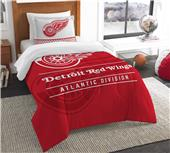 Northwest NHL Red Wings Twin Comforter & Sham